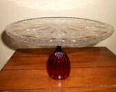 Midlands News Vintage glass cake stand like the