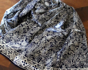 Batik- Hand Painted  100% silk  shawl.
