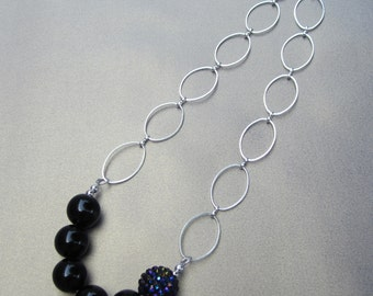 Disco Ball Chain Necklace