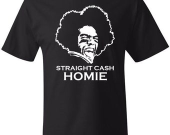RANDY MOSS Straight Cash Homie T-shirt Soft Ringspun Cotton by Hanes Funny Tee NFL Football Champion New England Patriots Minnesota Viking