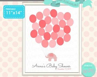 baby shower keepsake sign elephant balloons 25 printable file o