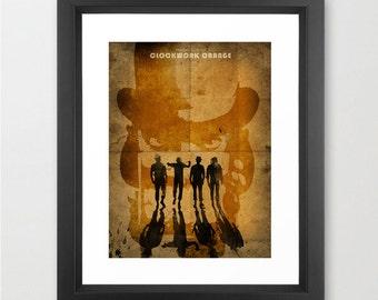 CLOCKWORK ORANGE - Stanley Kubrick Movie, Clockwork poster, Art Print, Home & Living Decor, Paper Poster, Alternative Poster