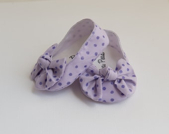 Baby Shoes Baby Girls Shoes Toddler Girls Shoes Soft Sole Shoes Spring Shoes Summer Glitter Polka Dot LilacShoes Lilac Shoes Polka Dot Shoes