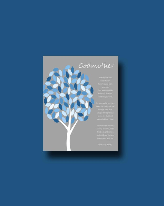 Godmother Wedding Gift: GODMOTHER Gift Godmother Gift FROM BRIDE On Wedding Day