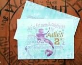 Princess Mermaid Birthday Party Invitations - Printable Party Invitations - Elegant Mermaid Swim Party - Summer Party  - Adie