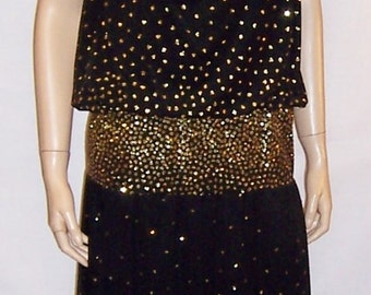 Michael Maiello  for Pat Richards Black Gown with Sequins
