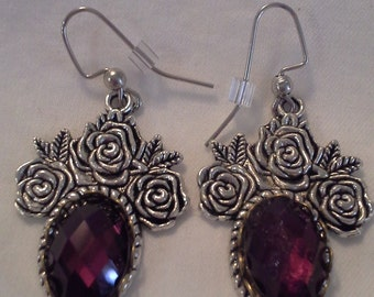 Roses and Amethyst Crystals = E130