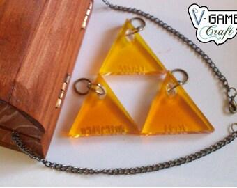 Based on The Legend of Zelda Triforce necklace