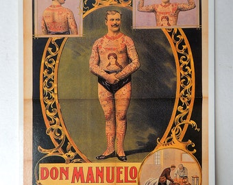 Don Manuelo Tattoo Postcard