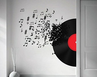 Record Blowing - Music Decor - Music Decoration - Music Notes - Music Art -  Music