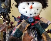 Rustic Snowman Christmas Decor