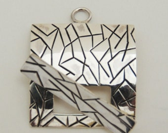 Square Sterling Silver Toggle Clasp