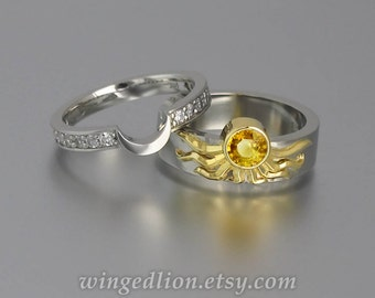 inexpensive wedding rings sun and moon wedding rings