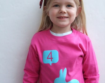 Birthday T shirt Number with Rabbit