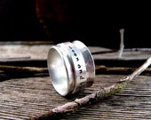Personalized Spinner Ring - Hand stamped Ring