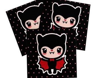 Bat Girl Art Print 5 x 5