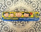 Vintage Playtime Water Color Paint Set Unused