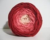 Handspun Yarn - Super Bulky Falkland Wool - 86 yards of Hibiscus Gradient