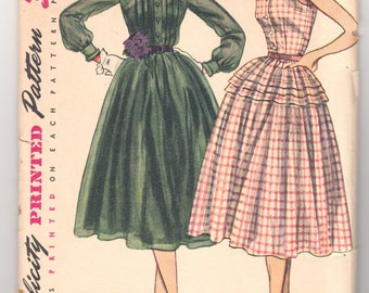 Vintage Sewing Pattern Ladies 1950's Dress Simplicity 3848 34 Bust - Free Pattern Grading E-book Included