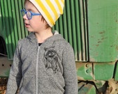 Raccoon Hoodie for Kiddo - Salt & Pepper Grey (2T)