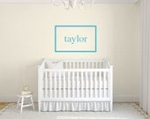 Personalized frame name wall decal DB347