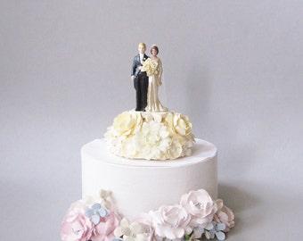 Vintage Inspired Wedding Cake Topper