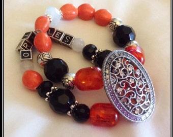 BALTIMORE ORIOLES BASEBALL jewelry bracelets