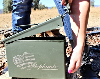 Gifts for Sister, Ammo Box, Personalized Womens, Storage Box with Lid, 30 Caliber Steel Ammo Can with Engraved, Sister Gift