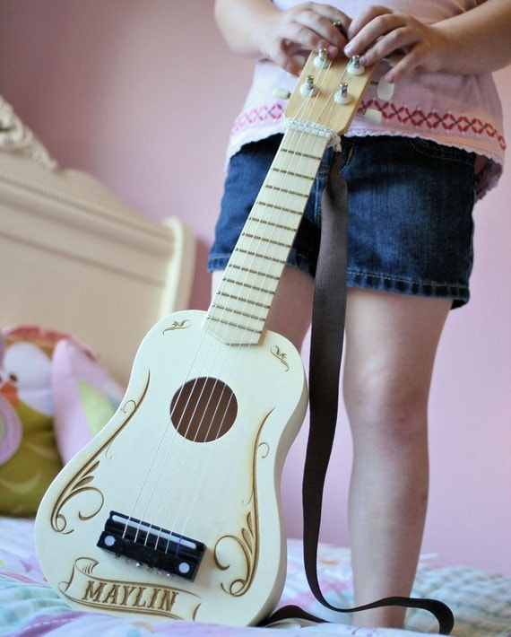 personalized kids toy guitar gifts for kids music. Black Bedroom Furniture Sets. Home Design Ideas