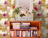 """Custom Wallpaper - 24""""x12' rolls, Self Adhesive and Removable, Customize your Colors, Flowers"""
