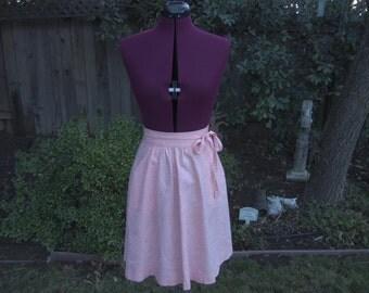 Mini Skirt Peach Mini Skirt Flare Skirt 1970s Mini Skirt Mini Wrap Skirt High Waist Skirt Wrap Skirt Festival Skirt 70s Mini Skirt Size XS S