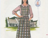 Misses Jumper & Collar Blouse Sewing Pattern Size 12, 14, 16 Butterick 3666, UNCUT, J.G. Hook, Women's Dress, Modest, Preppy, Classic