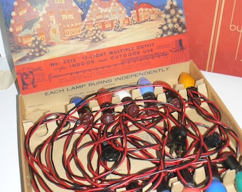 1940s NOMA Christmas Decorating Lights in Original Box