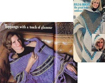 HALF PRICE Clearance 70s Knitting Crochet Patterns Magazine Vintage Womens Kids scarves Jackets Afhan Shawls Granny Squares