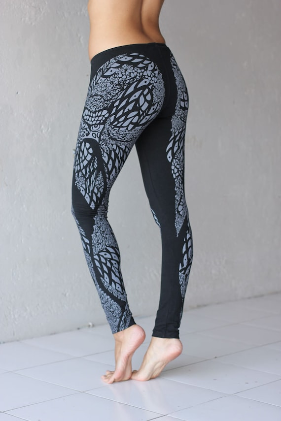 Owl  - Printed Graphic Organic Cotton Leggings