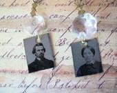 Vintage Tintype Earrings