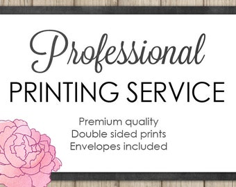 Professional Printing Service - Double Sided Cardstock Prints - Envelopes Included - Card size 5x7