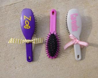 Monogram Hair Brush - Personalized Brush - Child Size Hair Brush