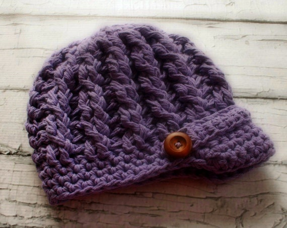 Crochet Newsboy Hat Pattern Cabled Newsboy Hat Pattern