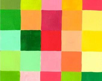 "Color Grid: Spring 1, small, original color study, 5"" x 5"""