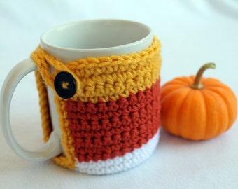 Candy Corn Coffee Mug Coaster Cozie - Halloween at Julian Bean