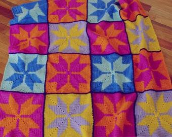 Crochet Pattern Tapestry Blanket - Photo crochet tutorial bedding blankie - Instant Download
