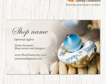 Business card template - Jewelry calling card - Business card design