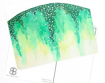 POSTCARD your choice of blank abstract watercolor card