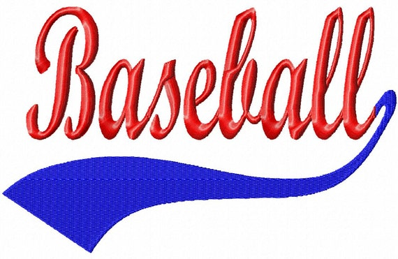 Font Tails Svg Vector Text Tails Font Swoosh Text Swoosh: Baseball Swoosh Baseball Machine Embroidery By LilliPadGifts