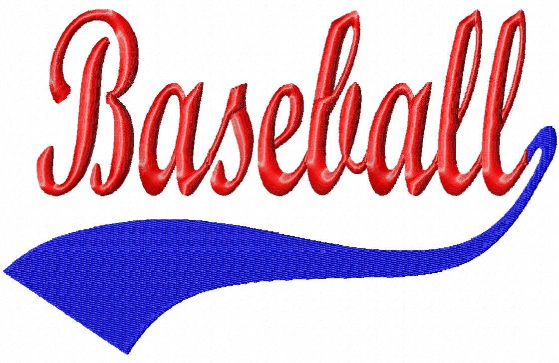 Baseball Swoosh Baseball Machine Embroidery By LilliPadGifts