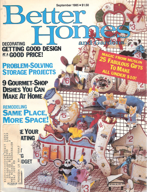 Better Homes And Gardens September 1985 Magazine Back