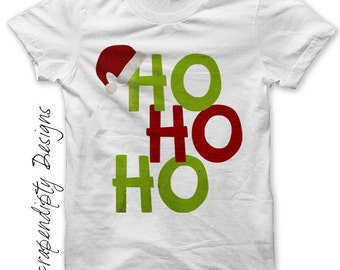 Santa Iron on Transfer - Iron on Ho Ho Ho Shirt PDF / Boy Christmas Shirt / Toddler Santa Clothing / Kids Christmas Clothes / Print IT304