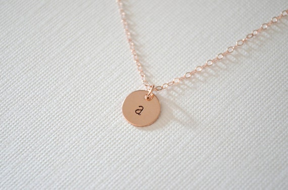 Rose Gold Necklace | Personalized Necklace | Initial Necklace | Pink Necklace | Dainty Minimalist Jewelry