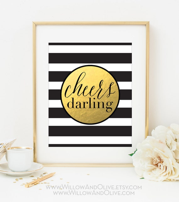 cheers darling art print
